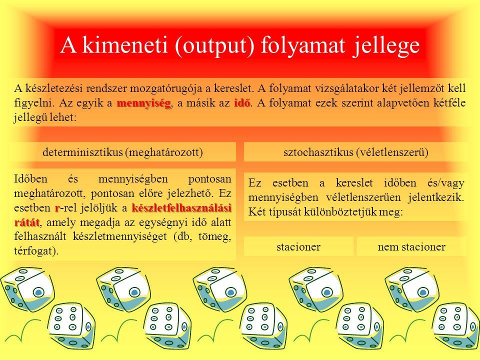 A kimeneti (output) folyamat jellege