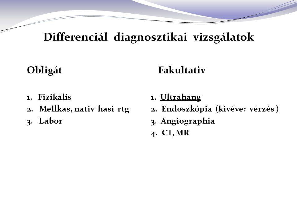 Differenciál diagnosztikai vizsgálatok
