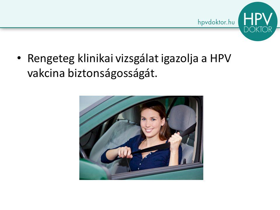 Rengeteg klinikai vizsgálat igazolja a HPV vakcina biztonságosságát.