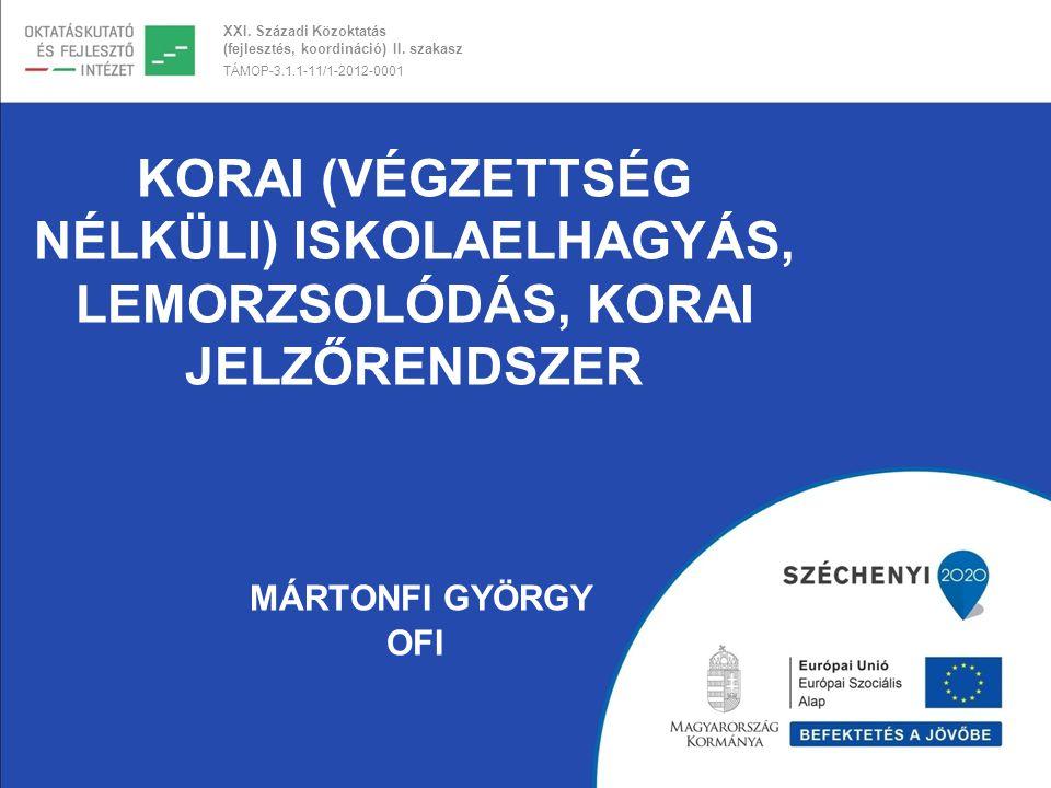 Korai (végzettség nélküli) iskolaelhagyás, Lemorzsolódás, Korai jelzőrendszer Mártonfi György OFI