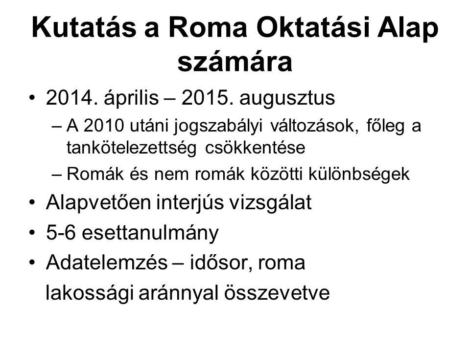 Kutatás a Roma Oktatási Alap számára