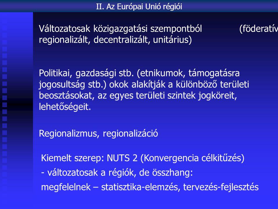 II. Az Európai Unió régiói