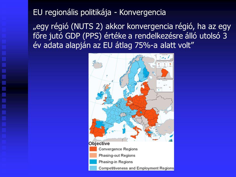 EU regionális politikája - Konvergencia