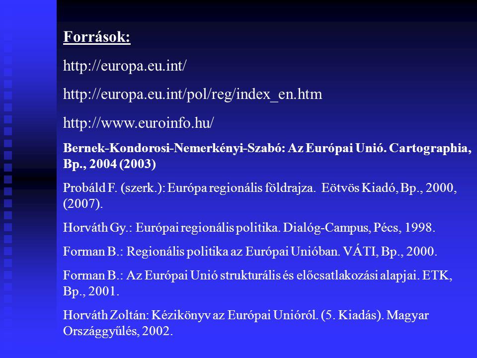 Források: http://europa.eu.int/