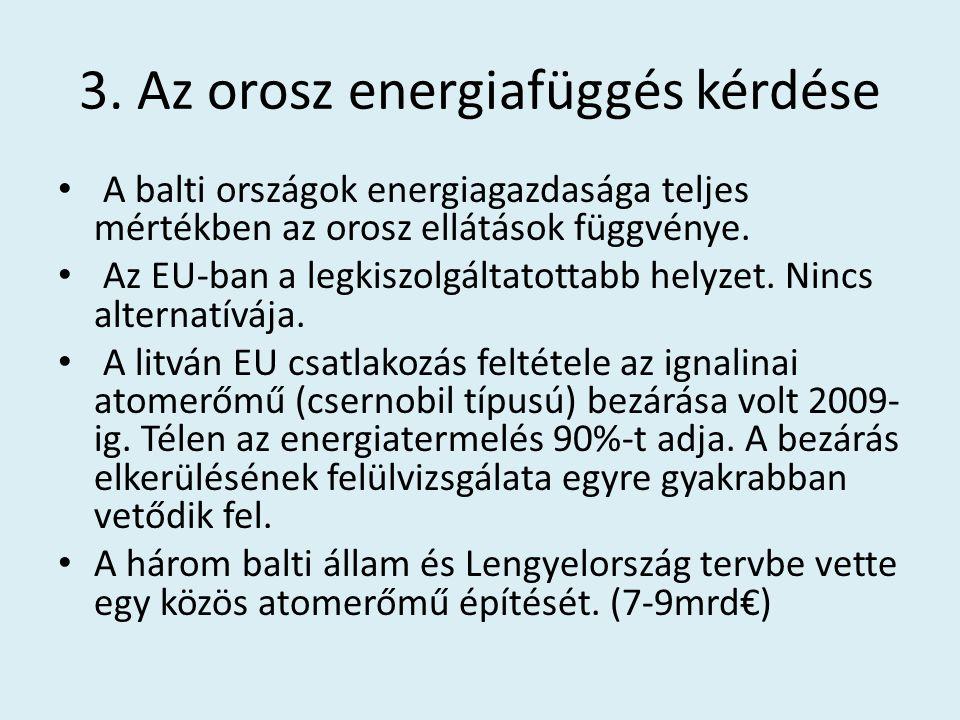3. Az orosz energiafüggés kérdése