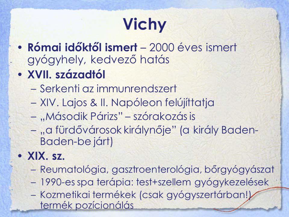 Vichy Római időktől ismert – 2000 éves ismert gyógyhely, kedvező hatás