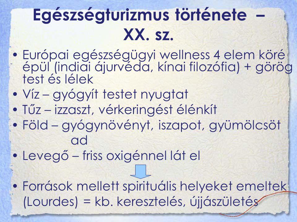 Egészségturizmus története – XX. sz.