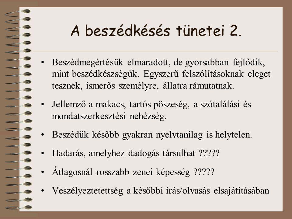 A beszédkésés tünetei 2.