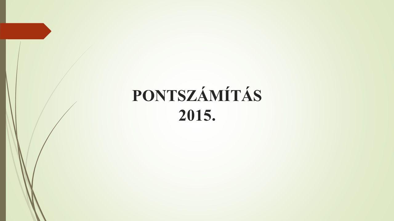 PONTSZÁMÍTÁS 2015.