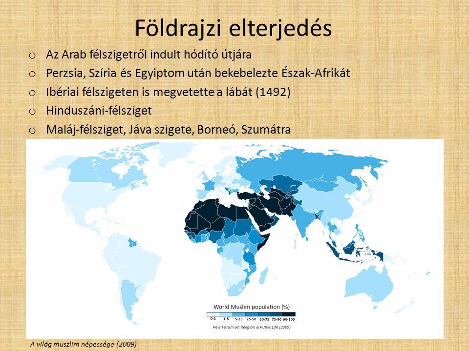 Földrajzi elterjedés Az Arab félszigetről indult hódító útjára