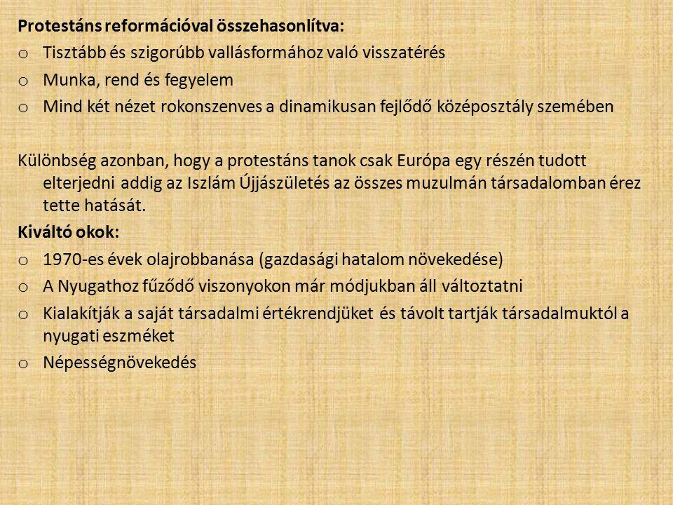 Protestáns reformációval összehasonlítva: