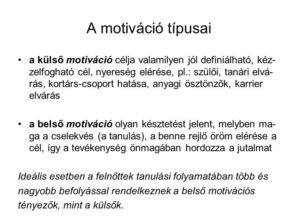 A motiváció típusai