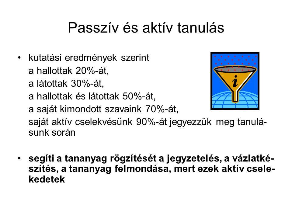 Passzív és aktív tanulás