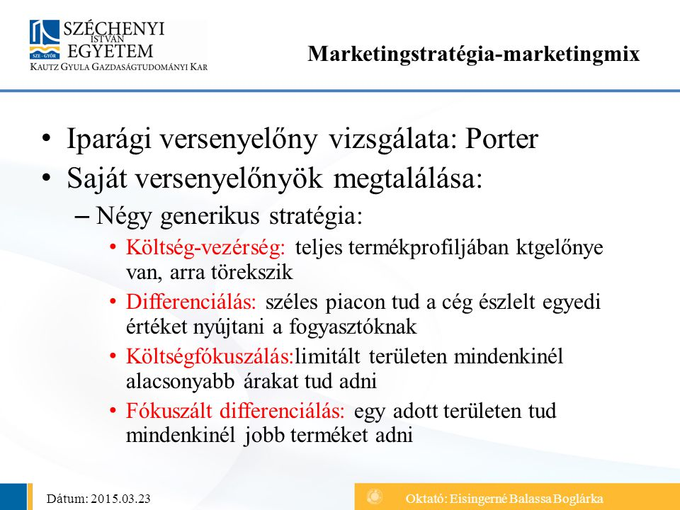 Marketingstratégia-marketingmix