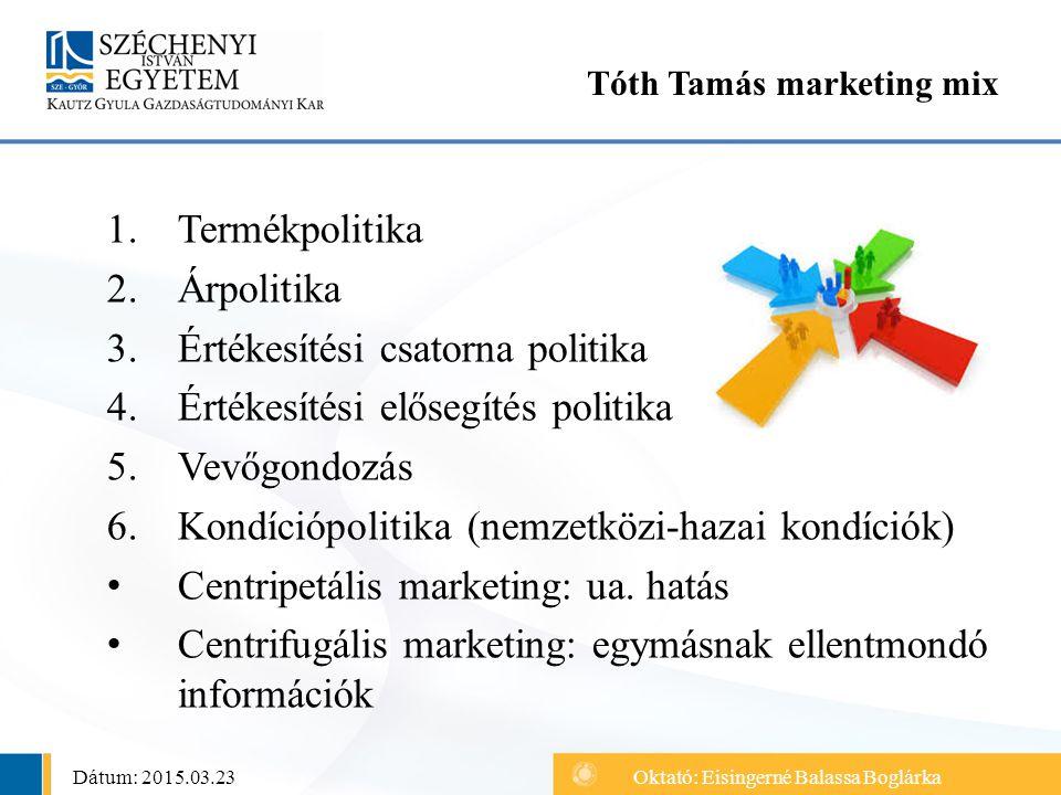 Tóth Tamás marketing mix