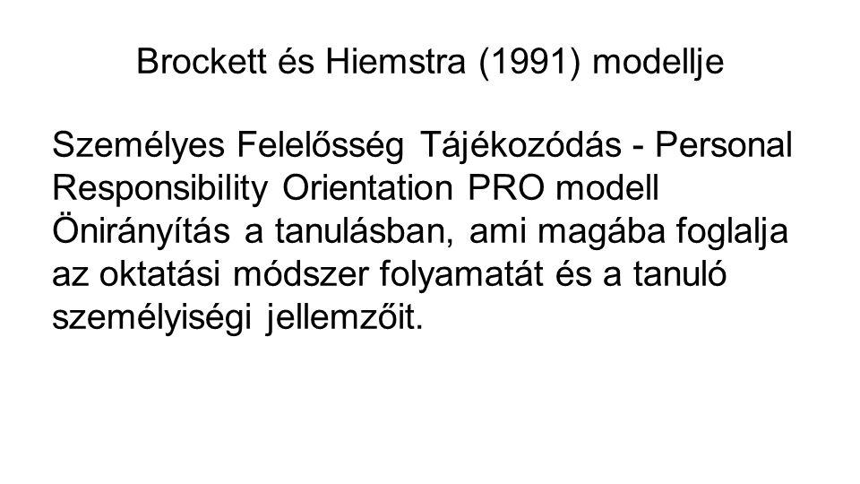 Brockett és Hiemstra (1991) modellje
