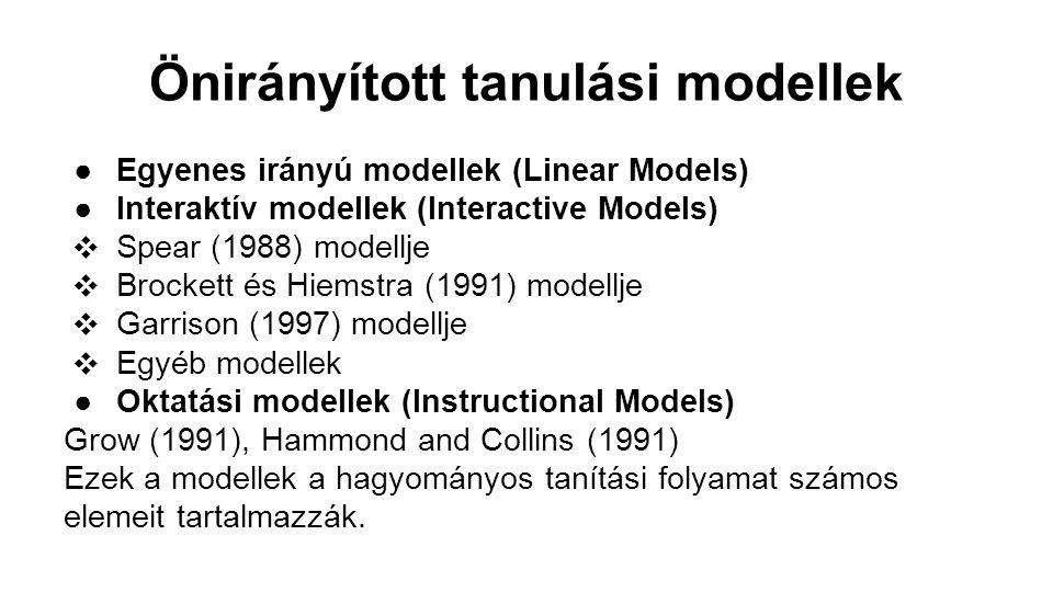 Önirányított tanulási modellek
