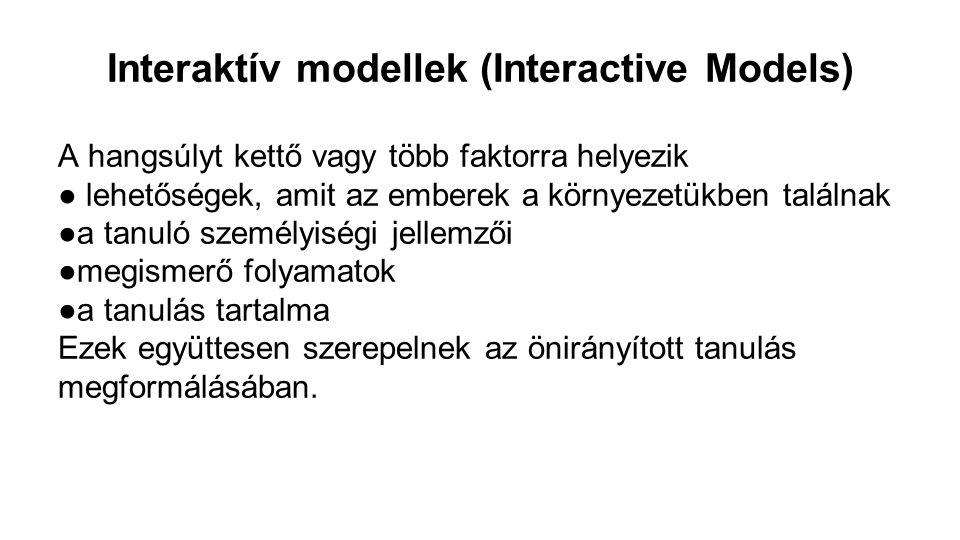 Interaktív modellek (Interactive Models)