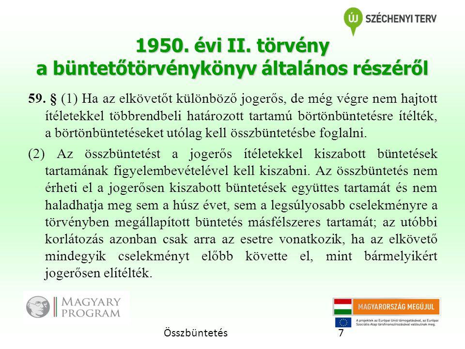 1950. évi II. törvény a büntetőtörvénykönyv általános részéről