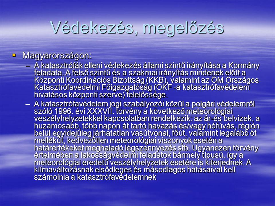 Védekezés, megelőzés Magyarországon: