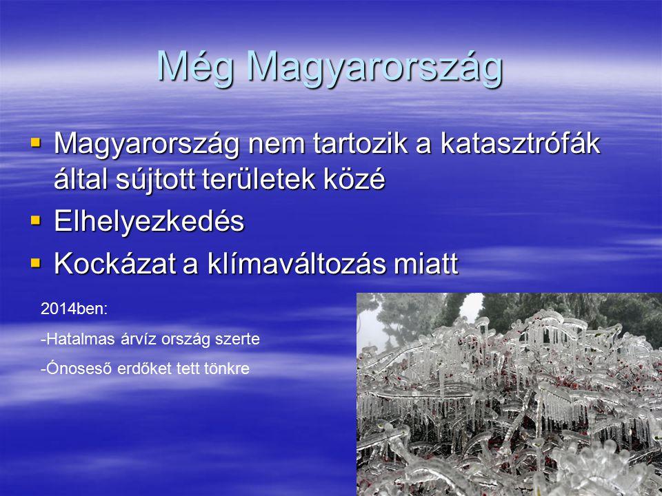Még Magyarország Magyarország nem tartozik a katasztrófák által sújtott területek közé. Elhelyezkedés.