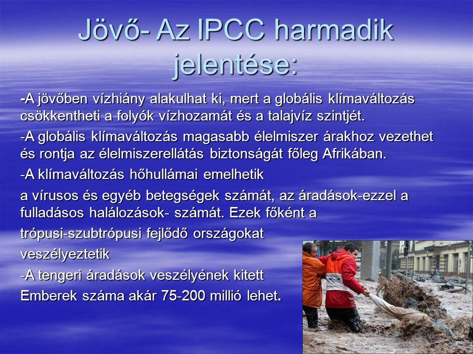 Jövő- Az IPCC harmadik jelentése:
