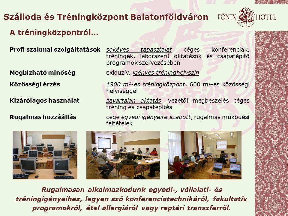 Szálloda és Tréningközpont Balatonföldváron