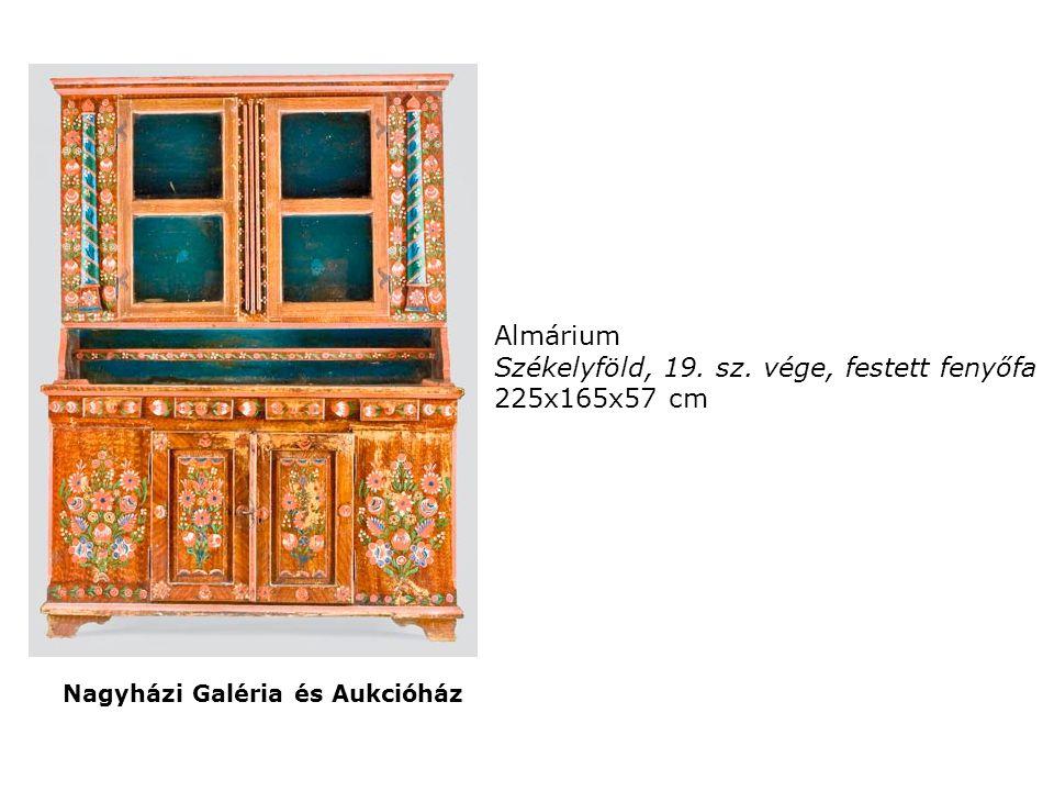 Almárium Székelyföld, 19. sz. vége, festett fenyőfa 225x165x57 cm