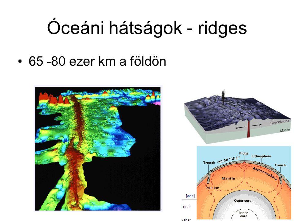Óceáni hátságok - ridges