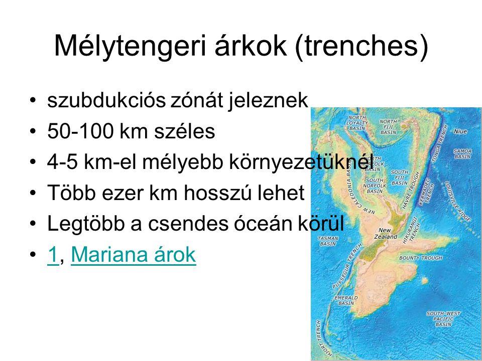 Mélytengeri árkok (trenches)