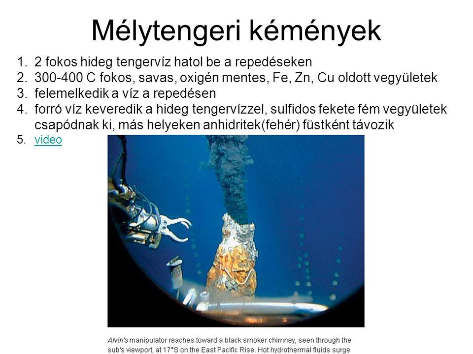 Mélytengeri kémények 2 fokos hideg tengervíz hatol be a repedéseken