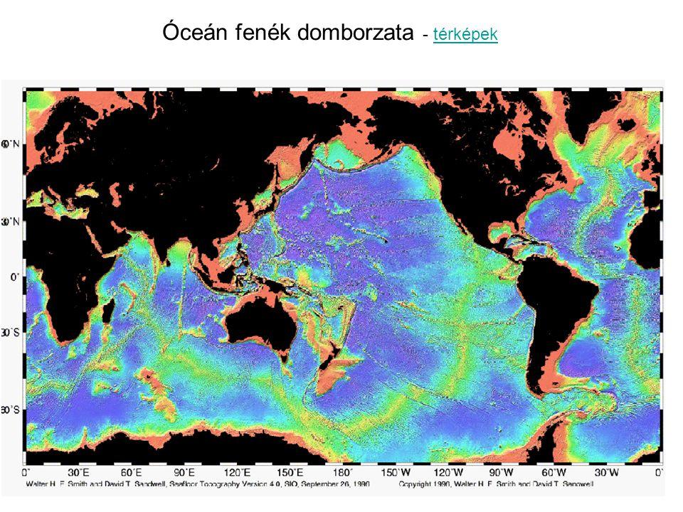 Óceán fenék domborzata - térképek