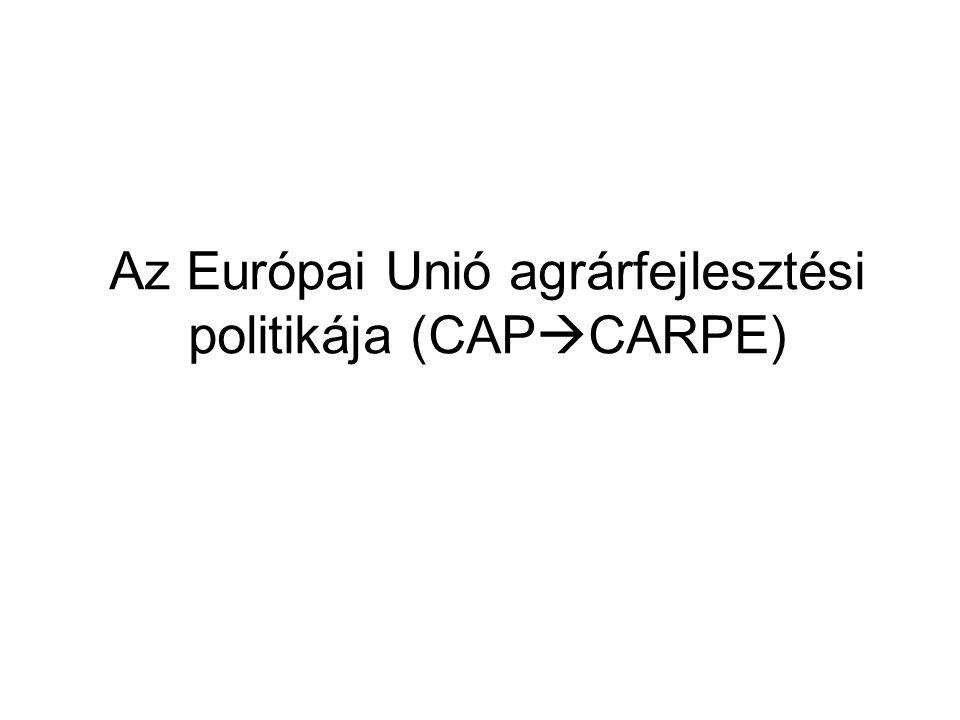 Az Európai Unió agrárfejlesztési politikája (CAPCARPE)