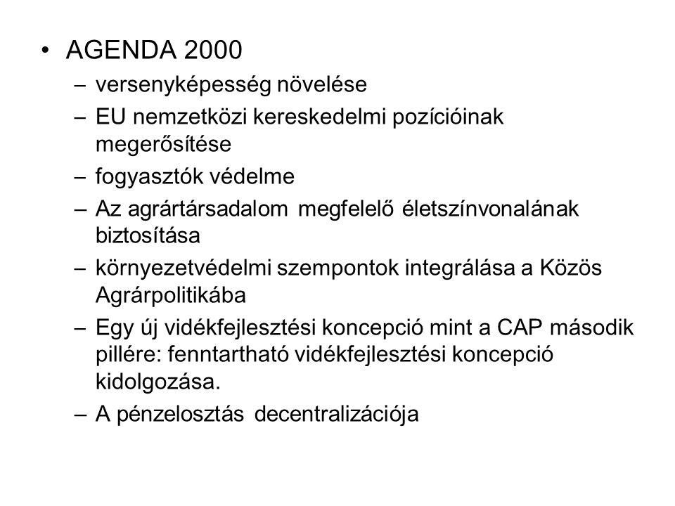 AGENDA 2000 versenyképesség növelése