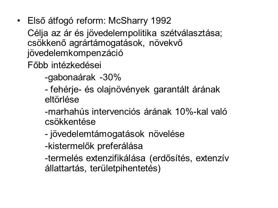 Első átfogó reform: McSharry 1992