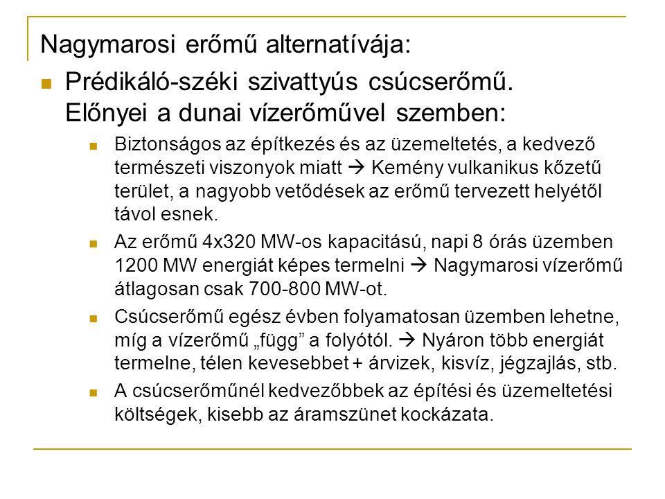 Nagymarosi erőmű alternatívája: