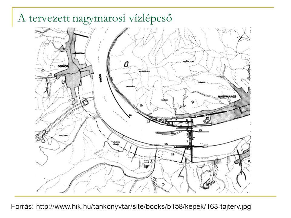 A tervezett nagymarosi vízlépcső