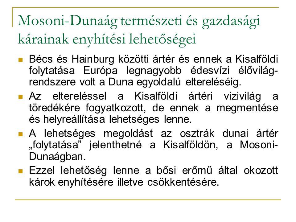 Mosoni-Dunaág természeti és gazdasági kárainak enyhítési lehetőségei