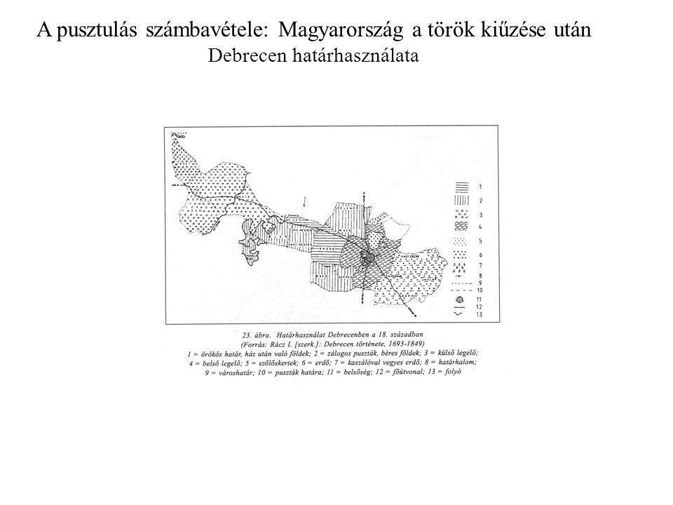 A pusztulás számbavétele: Magyarország a török kiűzése után Debrecen határhasználata