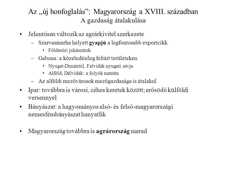 """Az """"új honfoglalás : Magyarország a XVIII"""