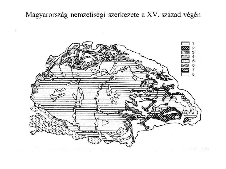Magyarország nemzetiségi szerkezete a XV. század végén