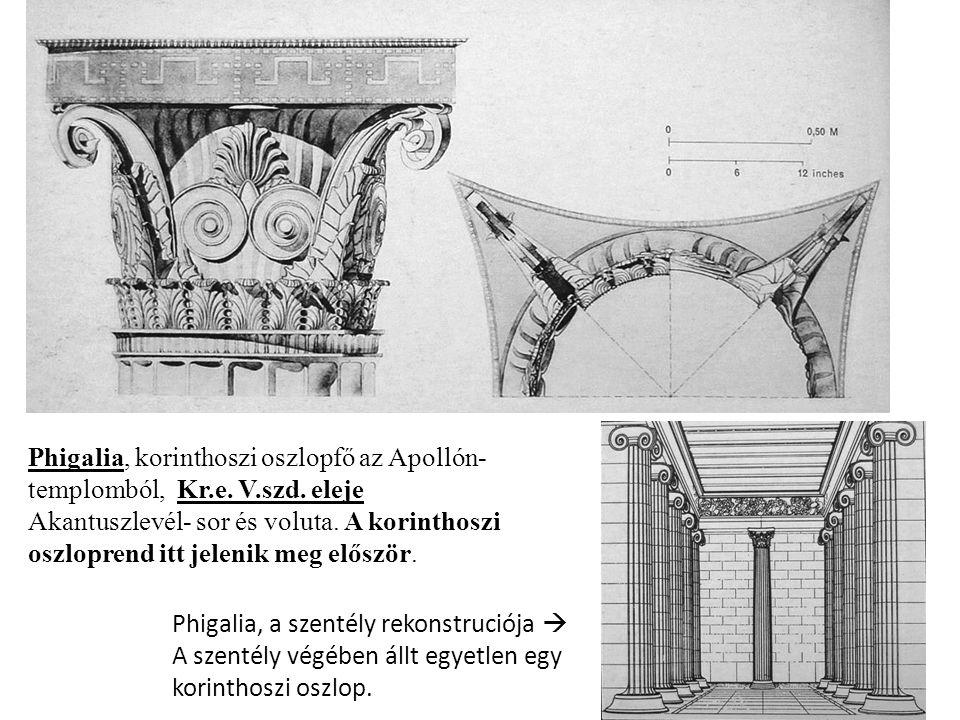 Phigalia, korinthoszi oszlopfő az Apollón- templomból, Kr. e. V. szd