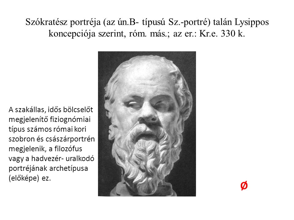 Szókratész portréja (az ún. B- típusú Sz