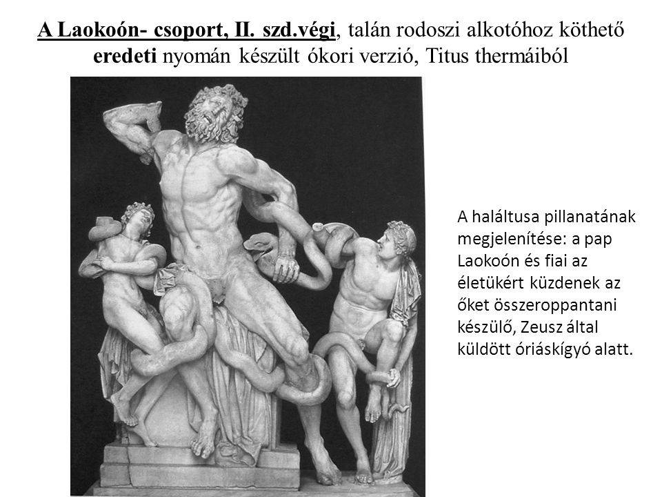 A Laokoón- csoport, II. szd