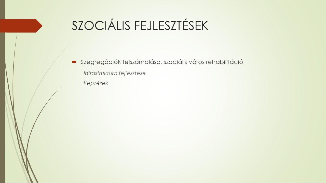 SZOCIÁLIS FEJLESZTÉSEK