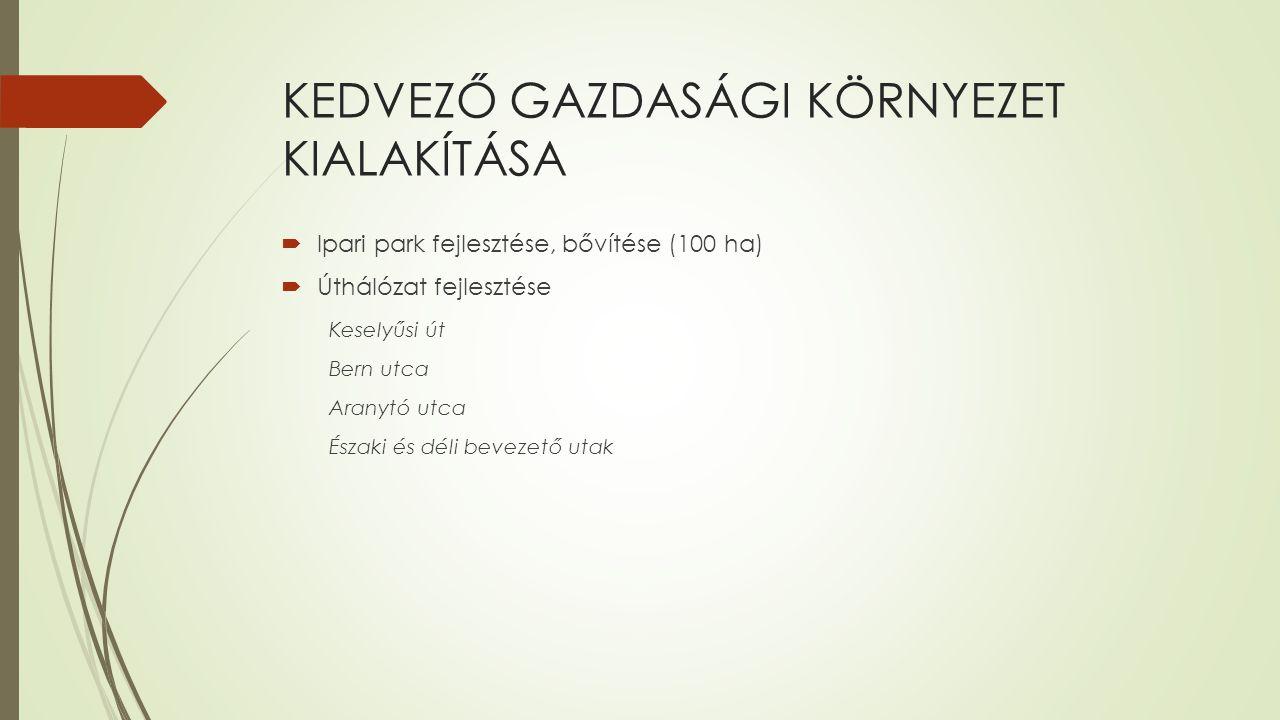 KEDVEZŐ GAZDASÁGI KÖRNYEZET KIALAKÍTÁSA