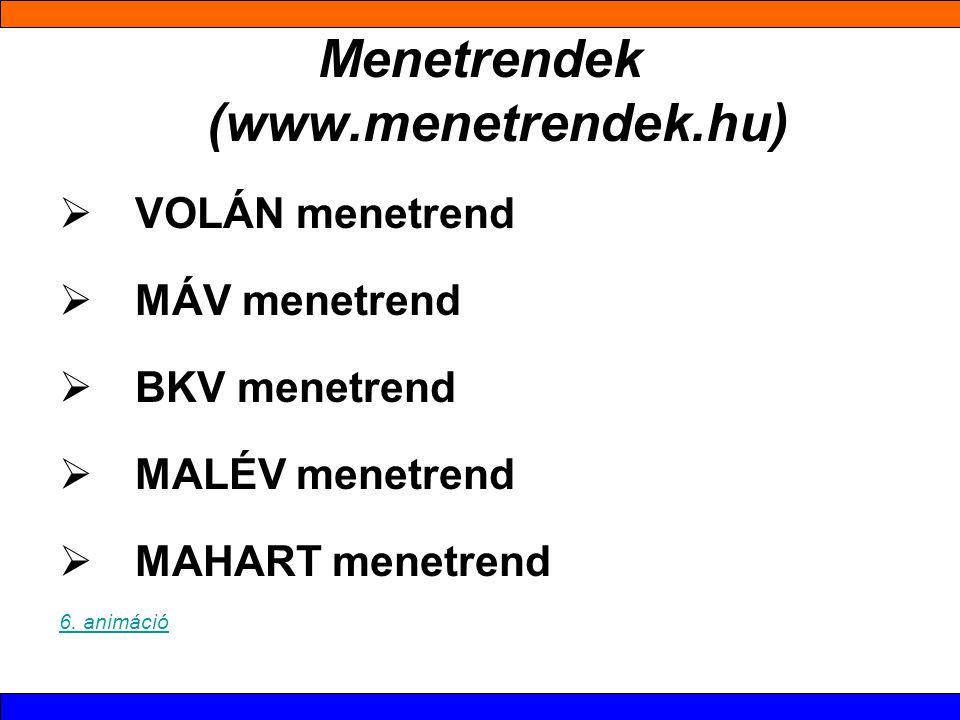 Menetrendek (www.menetrendek.hu)