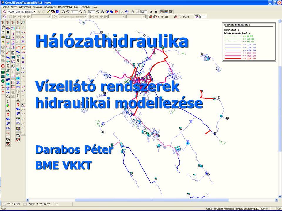 Hálózathidraulika Vízellátó rendszerek hidraulikai modellezése