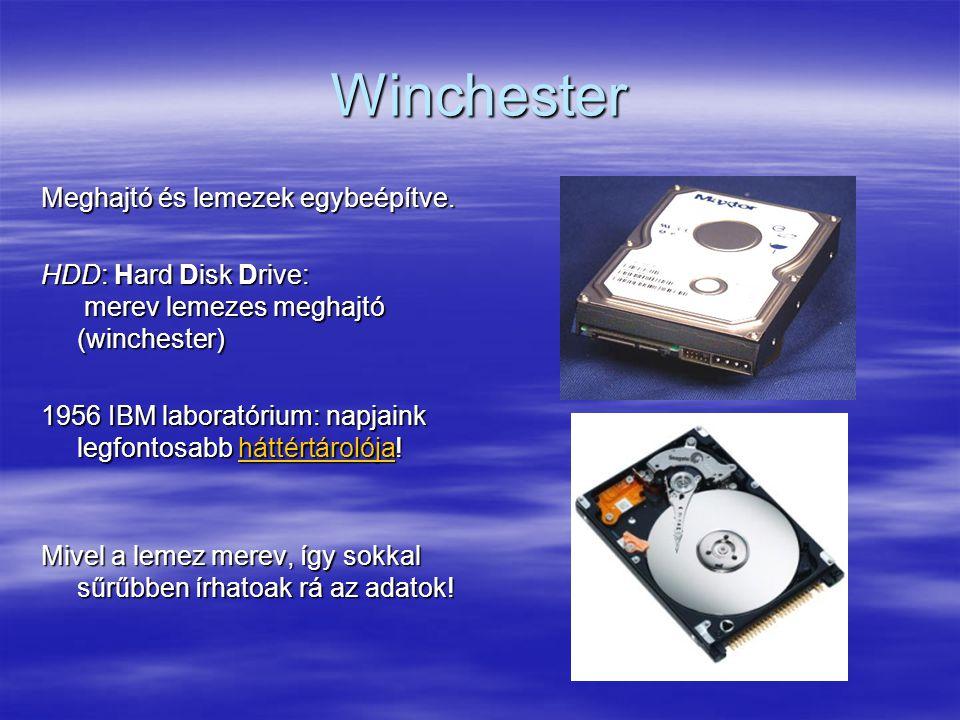 Winchester Meghajtó és lemezek egybeépítve.