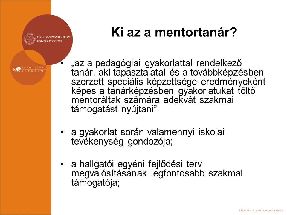 Ki az a mentortanár
